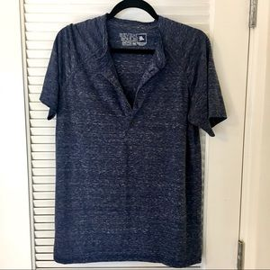 7Souls Blue Button Up Short Sleeve Shirt